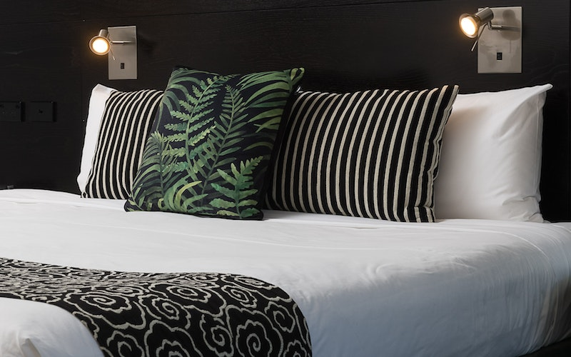 New bedding in every room