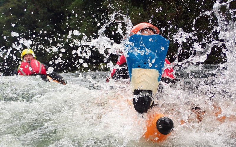 Splashing through the waves on our Tarawera Riverbug tour.