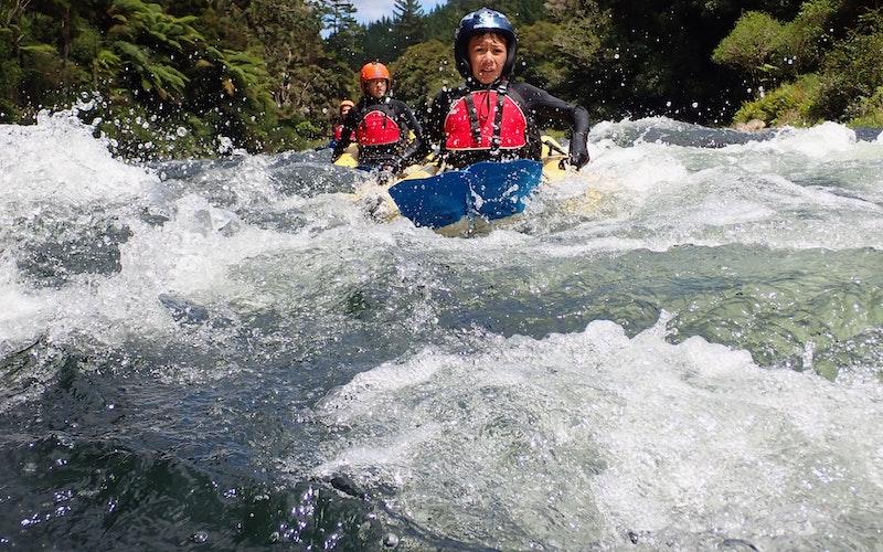 Riding the Rapids on our Action Bug – Rangitāiki tour.