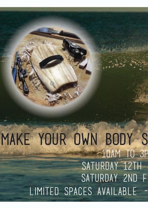 Make your own wooden body surfing handplane