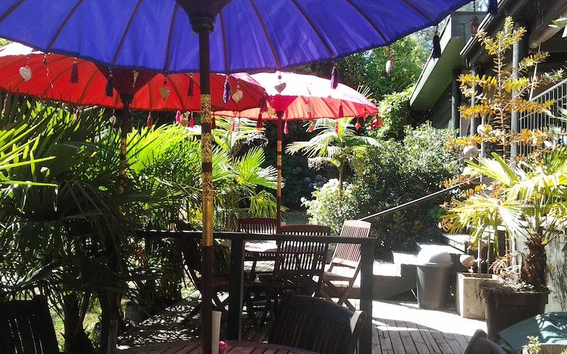 Cafe lower terrace.