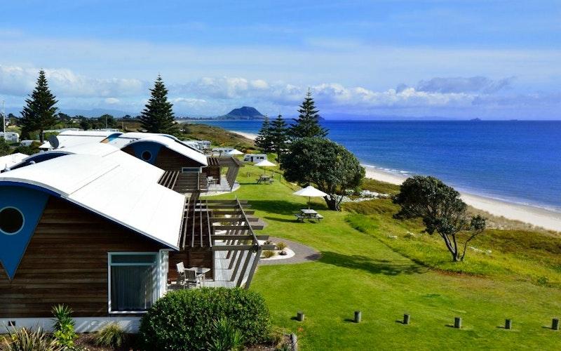 Papamoa Beach Resort located on the absolute beachfront.