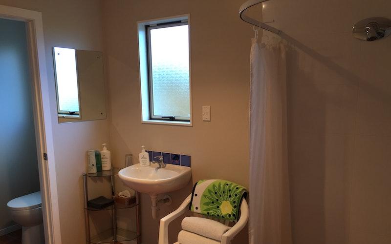 Spacious bathroom and separate toilet