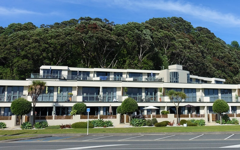 Beachpoint Apartments as seen from Ohope Beach