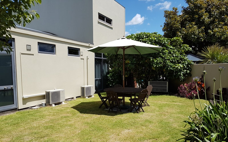 Garden and BBQ area