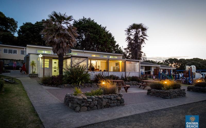 Kitchen and communal area Ohiwa Beach Holiday Park