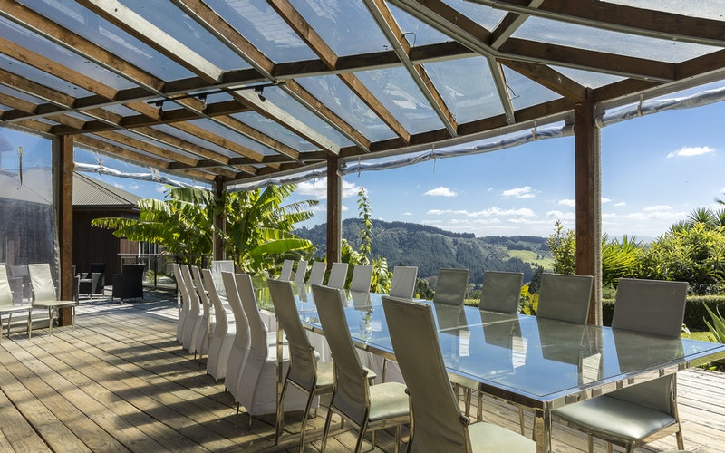 Day Spa Retreats for Women. Dining area at White Orchid Retreats