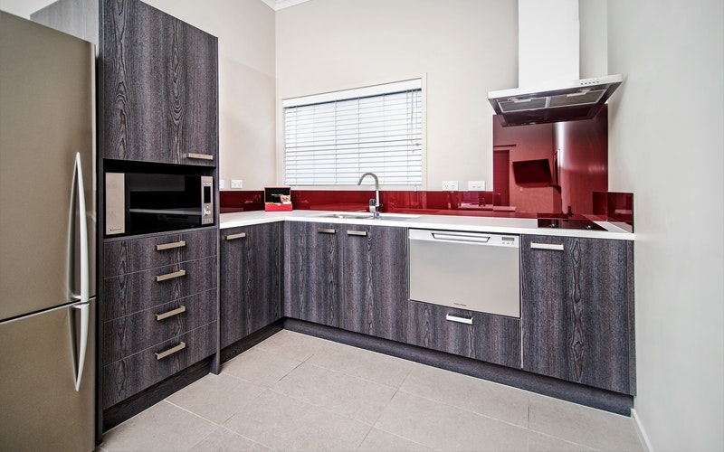 Apartment kitchen, for self catering.