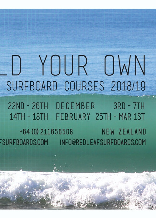 Build your own wooden surfboard with Red Leaf Surfboards